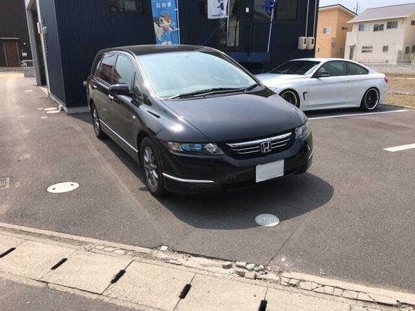 ホンダオデッセイのカー用品取り付けです。岡山倉敷市からのお客様です。