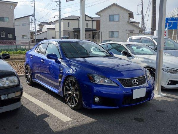 レクサスIS–Fに車高調の取り付けです。倉敷市からのお客様です。