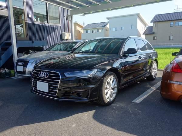 Audi A6にウインコスGY–15IRでカーフィルム施工、モールコーティングです。倉敷市からのお客様です。