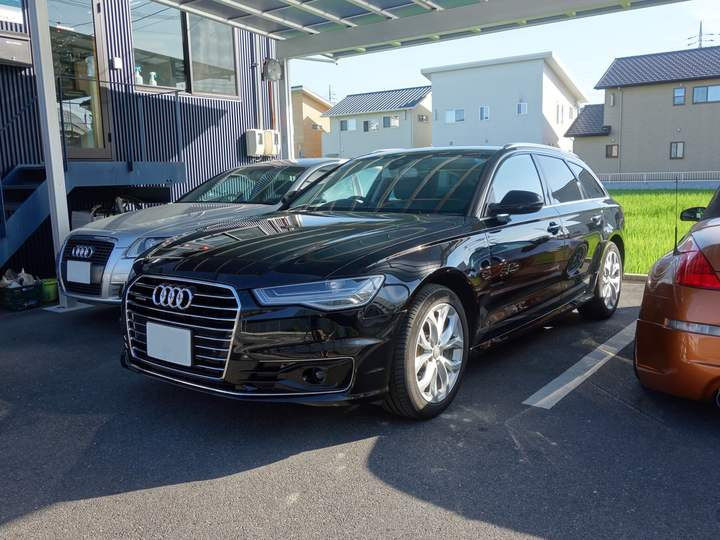 Audi A6にウインコスGY–15IRでカーフィルム施工、モールコーティングです。倉敷市からのお客様です。のサムネイル