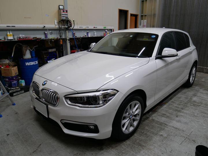BMW1シリーズにガラスコーティング(オクローナ)です。倉敷市からのお客様です。のサムネイル