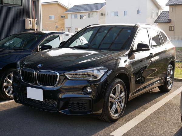 BMW X1にウインコスGY–5IRでカーフィルム施工です。倉敷市からのお客様です。